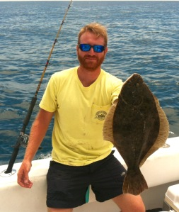 Shane Stauffer With Flounder