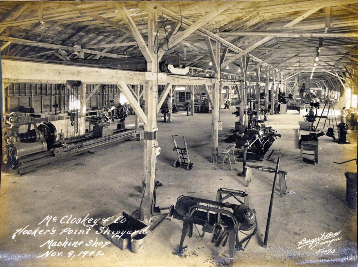 Machine Shop at McClosky yard-Photo Credit-NARA