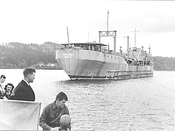 SS CW Pasley one of the concrete ships built-Photo Credit NARA